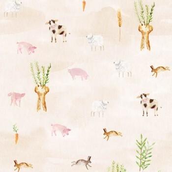 Wandbild Tiere Mühle Feld Sand