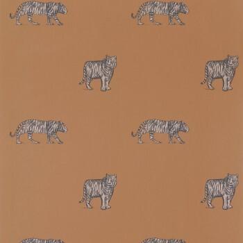Tapete Vlies Tiger Kupfer-Orange Our Planet OUP101962929