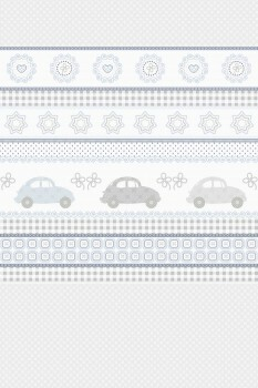 Wandbild Autos Patchwork Grau