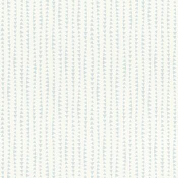 Mustertapete Weiß Hellblau Dreiecke