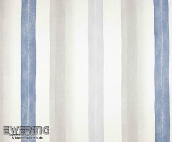Texdecor Casadeco - Marina 36-MRN25226105 graublau Stoff Streifen