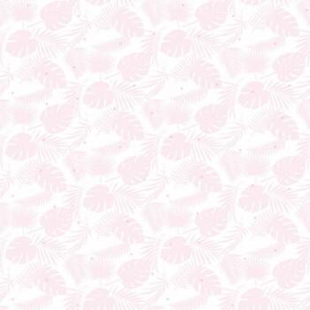 Palmenblätter Rosa Tapete