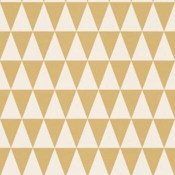 Vliestapete Gelb Gold Weiß Dreieck