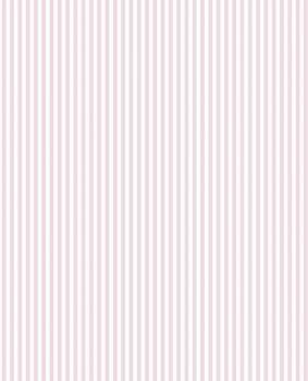 Rosa Weiß Streifentapete Mädchenzimmer