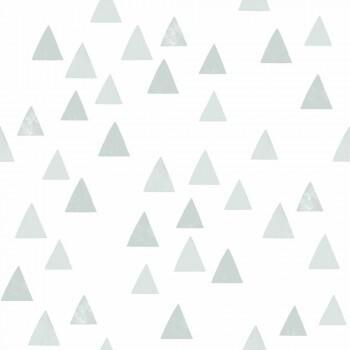 Tapete Blass-Grüne Dreiecke