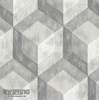 Rasch Textil Reclaimed 23-022306 grau Muster Vliestapete glatt