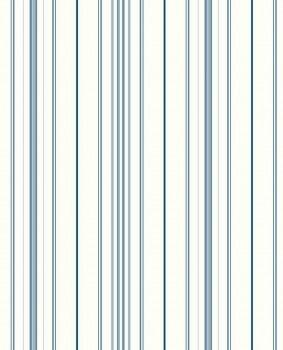 Streifentapete Blau Weiß Papiertapete