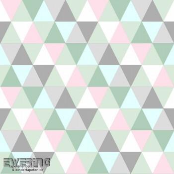 Pastell-Grün Dreiecke