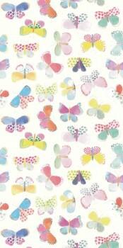 Schmetterlinge Weiß Wandbild Bunt