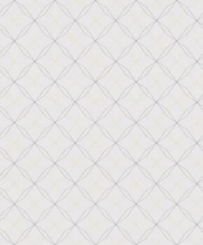 Geometrische Linien Vliestapete Hellrosa