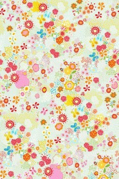 Wandbild Blumen Bunt Mint-Grün
