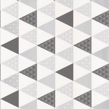 Caselio - Tonic 36-TONI69449412 silber-grau Dreiecke Tapete Vlies
