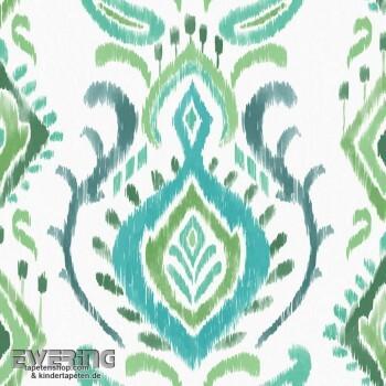 Rasch Textil Cabana 23-148647 grün Verzierung Vlies-Tapete Flur