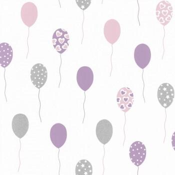 Tapete Luftballons Glitzer