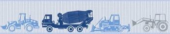 Blau Traktor Vlies Borte
