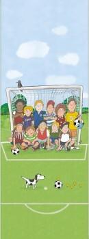 Wandbild Fußball Bunt