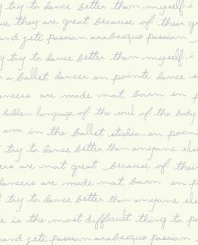 Weiß Lila Papiertapete Schriften