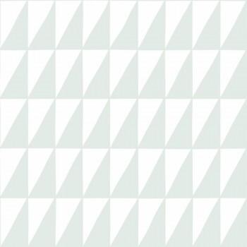 Tapete Dreiecke Mint Weiß