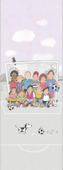 Wandbild Fußball Lila Grau