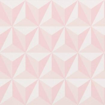 Grafisches Muster Rosa Vliestapete