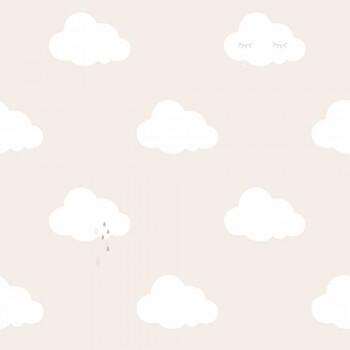 Beige-Braun Wolken Tapete