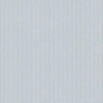 Streifen Vliestapete Blau-Weiß