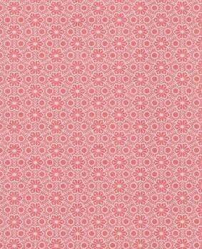 gleam red pattern wallpaper flowers