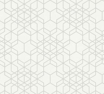 34869-1, 348691 Vliestapete Björn AS Creation grafisches Muster creme