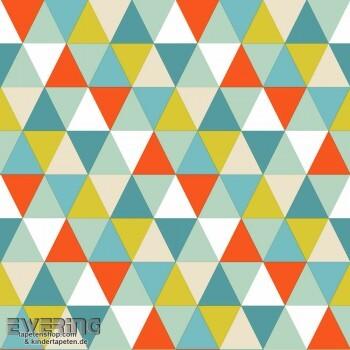 Dreiecke Blau Vlies