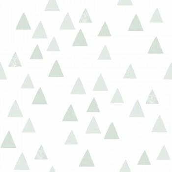 Tapete kleine Dreiecke Mint