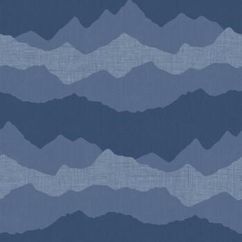 Tapete Blau Berge Jungszimmer