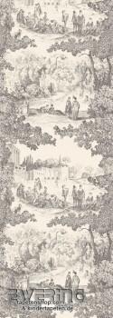 36-CHT24239120 Casadeco - Chantilly Toile de Jouy Wandbild grau