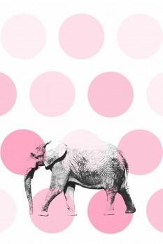 Elefant Wandbild Rosa Xl