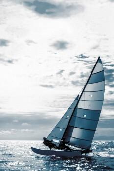 Fototapete Segelboot Meer