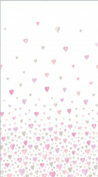 Stoff-Paneel Herz Rosa-Grau