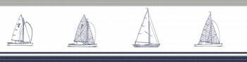Borte Segelboote Grau Blau