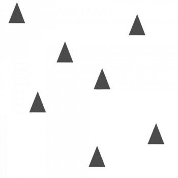 Vliestapete Dreiecke Schwarz Weiß