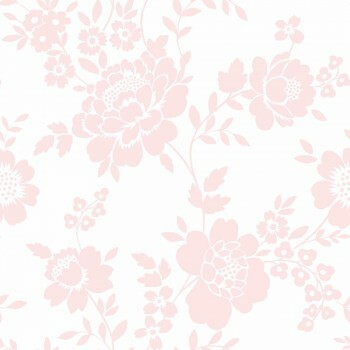Tapete Blumenranken Rosa