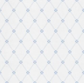 Weiß Blau Tapete Herzchen Glanz