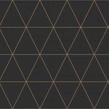 Tapete Schwarz Grafische Dreiecke