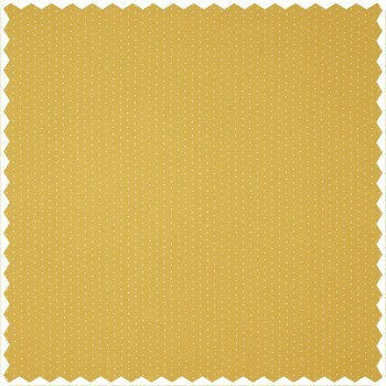 Dekostoff weiß gelbe Punkte