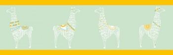 Borte Grün Lamas Gelb
