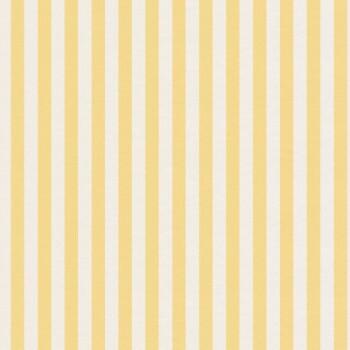 Gelb Streifen Tapete Weiß Vlies