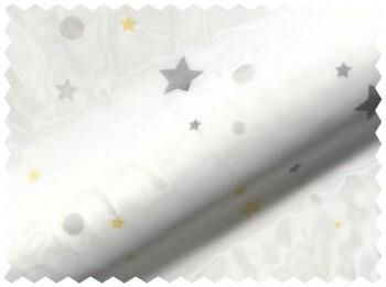 Transparent Weiß Gelb Stoff Sterne