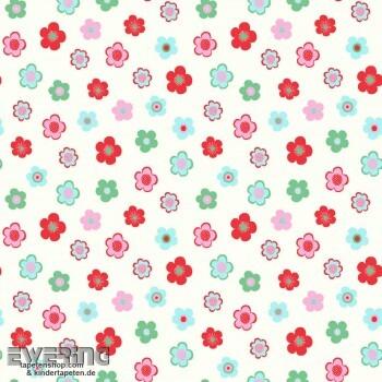 Weiß Vliestapete Blumen