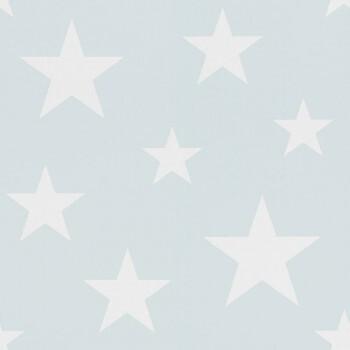 Vliestapete Hellblau Weiß Sterne