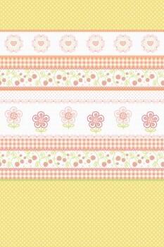 Wandbild Orange Muster Blumen