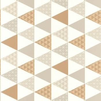Caselio - Tonic 36-TONI69441407 grau-braun Dreiecke Vliestapete