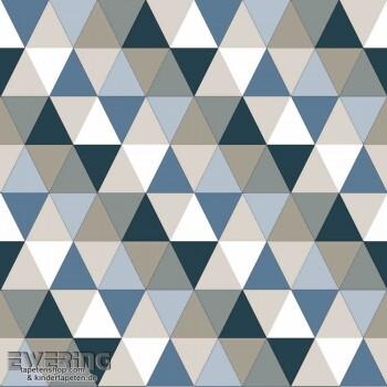 Blau Vlies Dreiecke