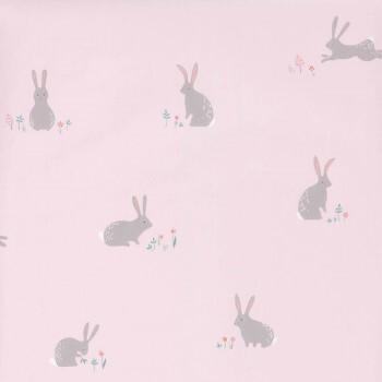 Rosa Tapete Kaninchen Grau